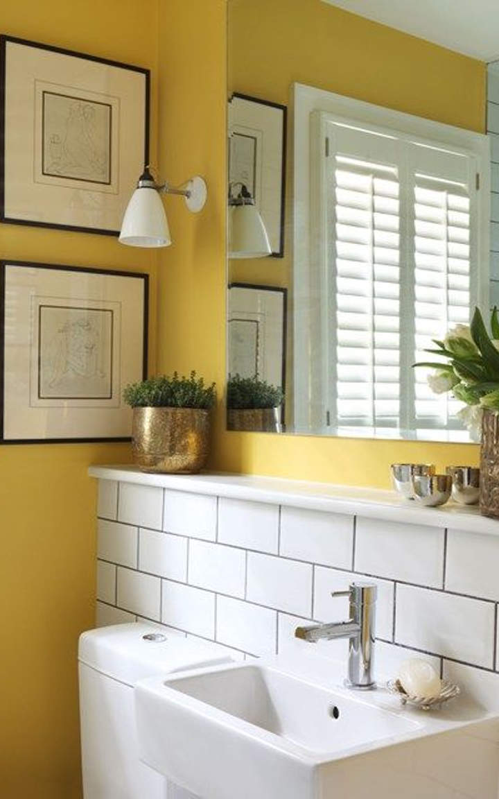 15 yellow bathroom ideas and designs you must see for Bathroom design yellow
