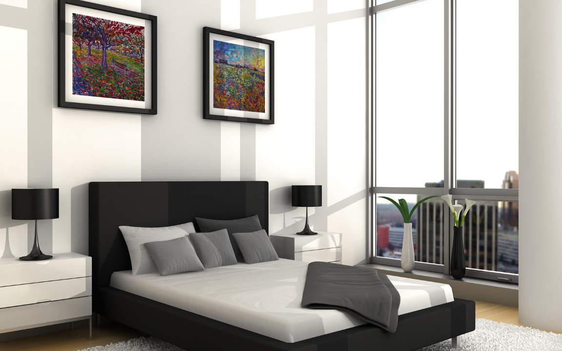 Classy white bedroom