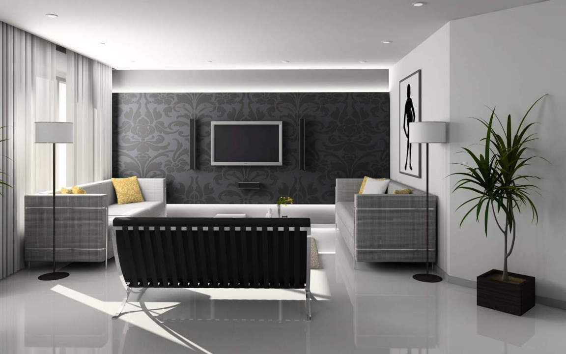 plain modern living room wallpaper ideas feature wall tiles for design