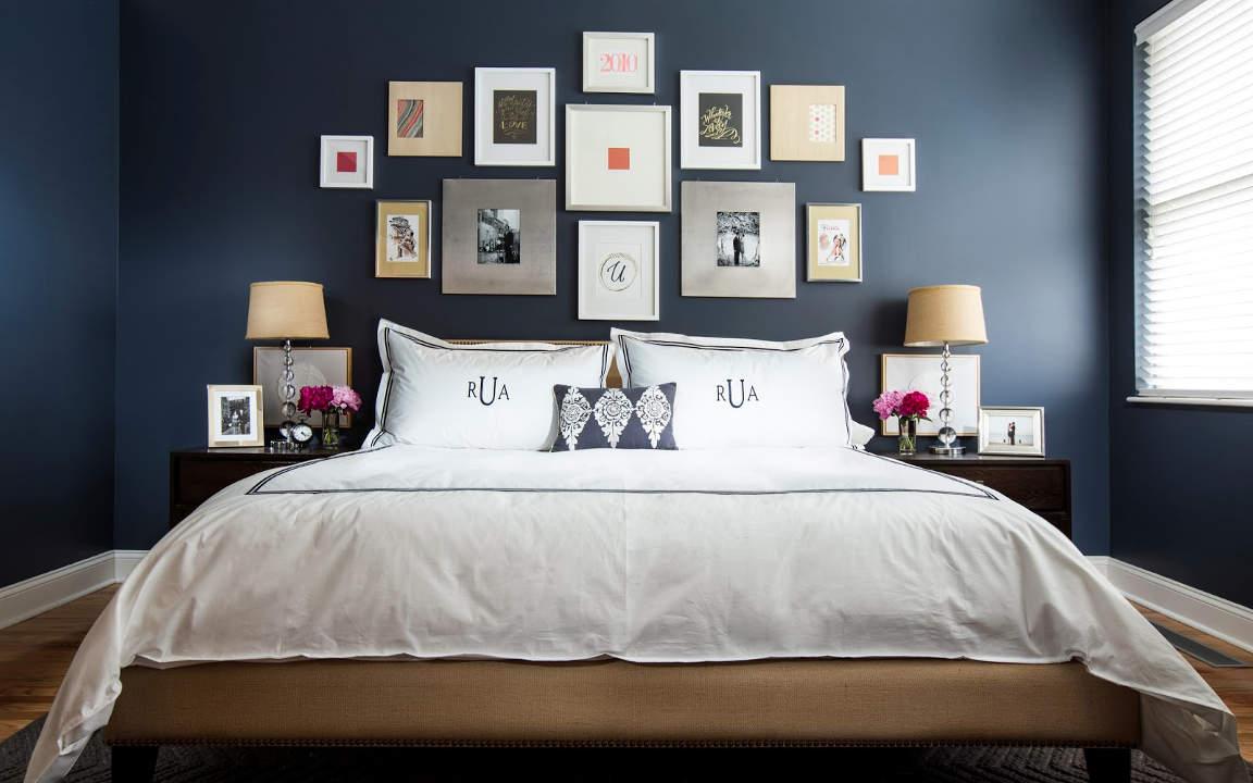 Navy Blue Bedroom 10