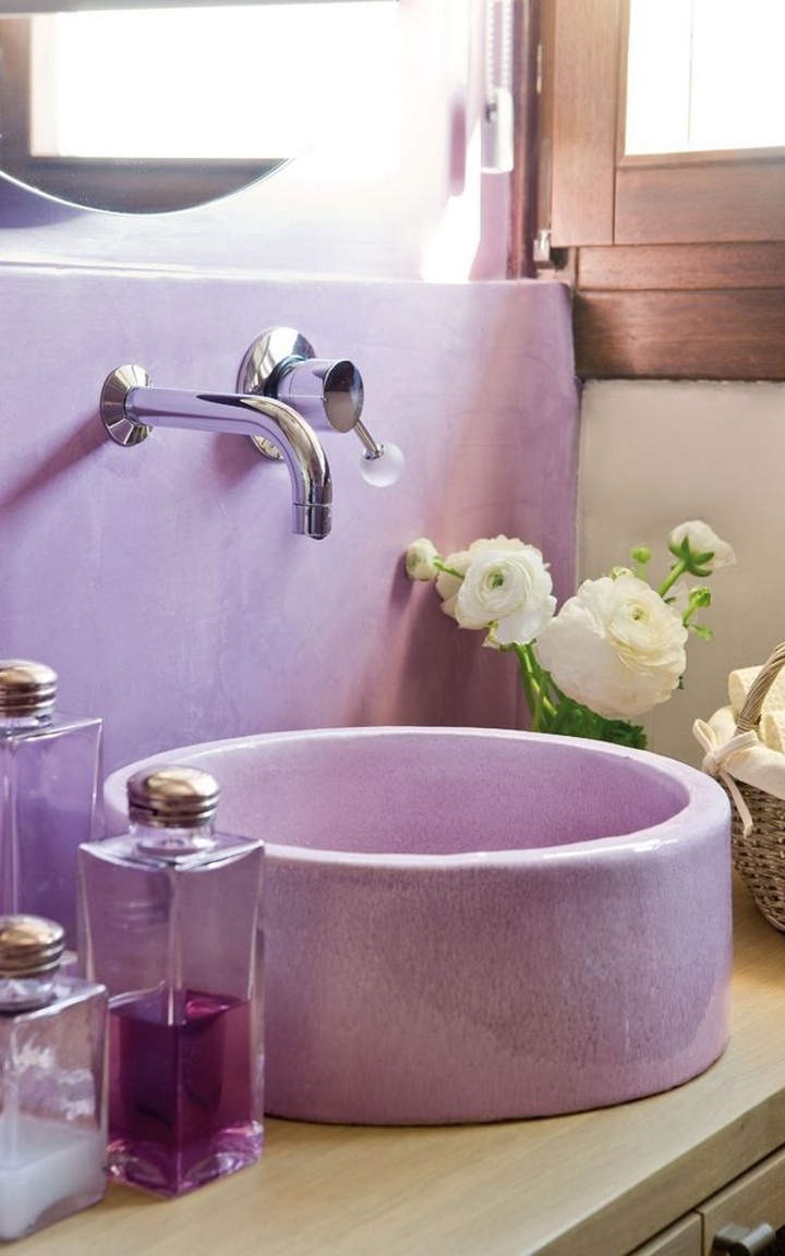 Wall tiles can help you create the bathroom design you dream of in - Purple Bathroom Designs And Ideas