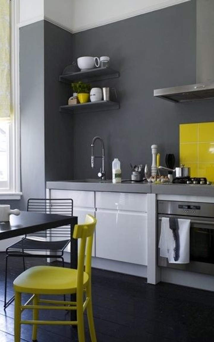 Exceptional Gray And Yellow Kitchen Ideas Part - 11: Yellow Kitchen #1