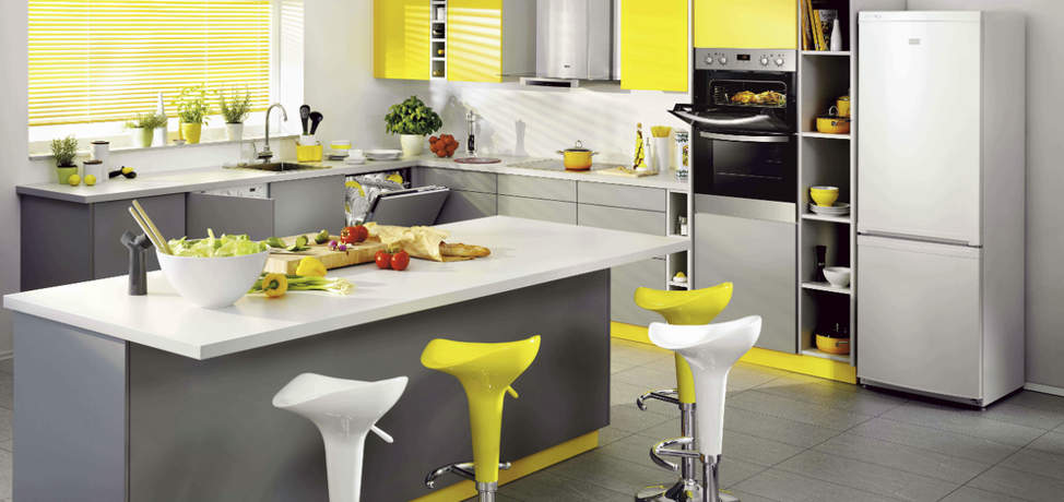 grey and yellow kitchen ideas yellow and gray kitchen ideas you can try this 23902